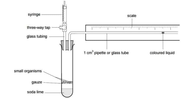 respirometer diagram